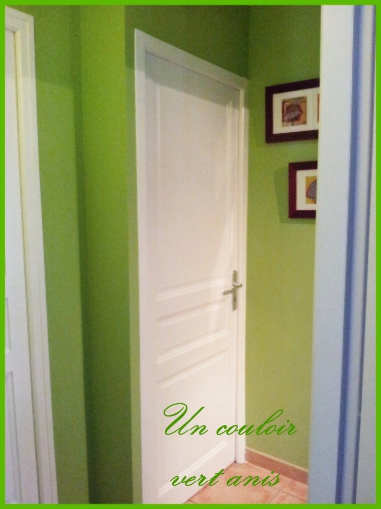 dans le couloir vert anis les couleurs mises en sc ne. Black Bedroom Furniture Sets. Home Design Ideas