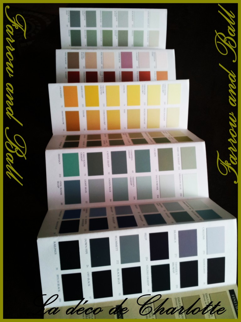 les couleurs mises en sc ne le nuancier farrow and ball. Black Bedroom Furniture Sets. Home Design Ideas