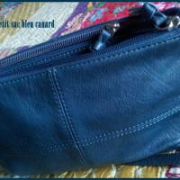 Petit sac bleu canard